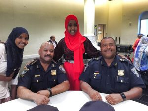 Chief Gross and SDep Sup harris with Somali girls at YPI Training